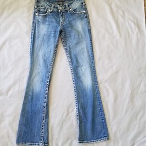 Silver Suki Boot Cut Rhinestones Jeans 26